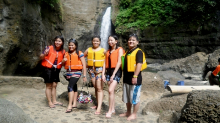 Us--with Pagsanjan Falls behind.