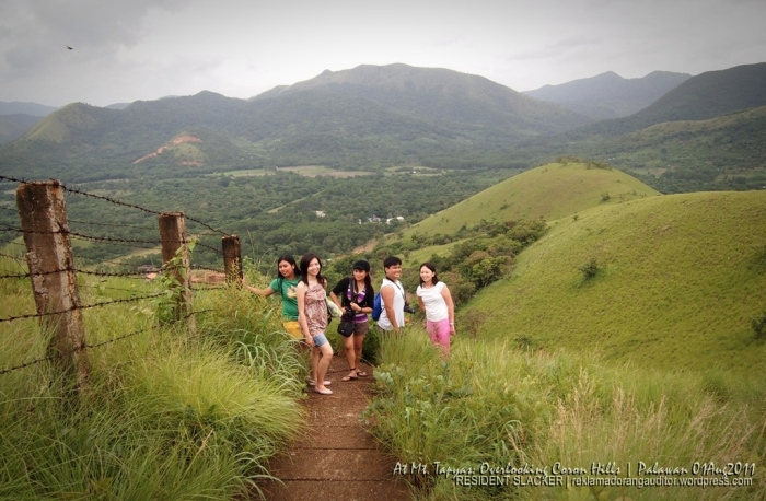 Mt. Tapyas (Back): Overlooking Coron Hills  --click on image for a full view