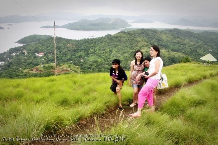 Mt. Tapyas (Back): Overlooking Coron Hills  --click on the image for a full view