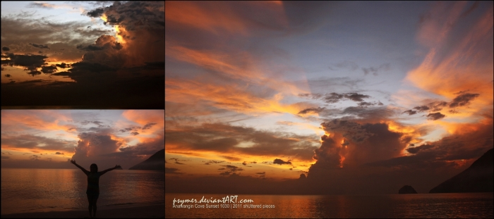 Anawangin Cove ---loving the sunset here! :)