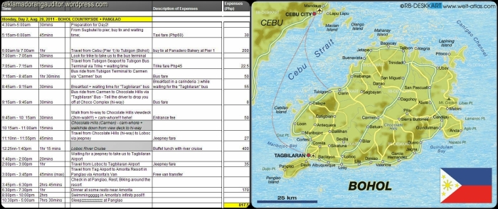 Bohol Itinerary + Map_Day1v2