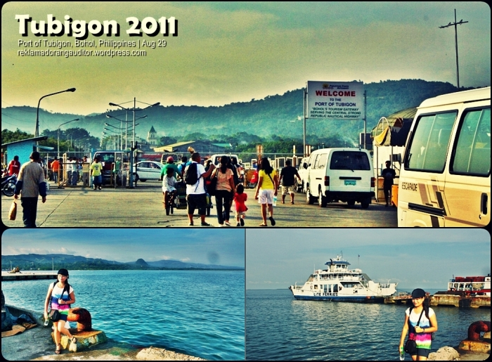 Getting off at Tubigon Seaport  ---click on image for a full view :)