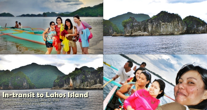 Caramoan: In transit to Lahos Island...