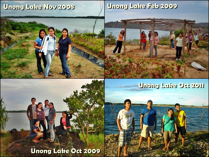 Unong Lake through the years..  --click on image for a full view :)