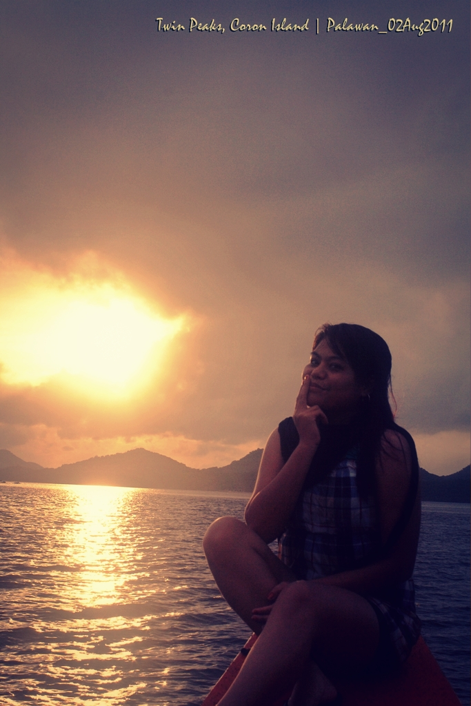 Me and the Struggling Sunset at Coron