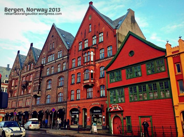 Bryggen Street, Bergen, Norway