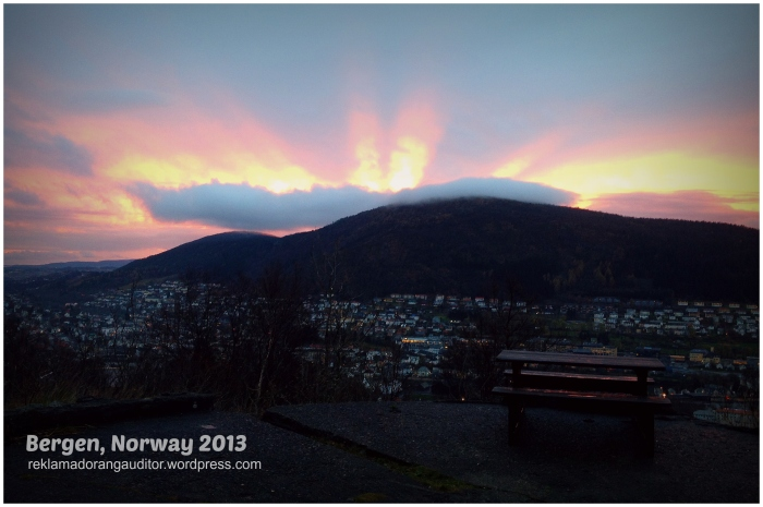 Sunset at Mt. Floyen, Bergen, Norway  --click on image for a full view :)