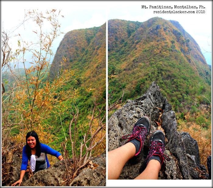 After surviving the first set of spiky rocks! *Mt. Banoy as the backdrop*