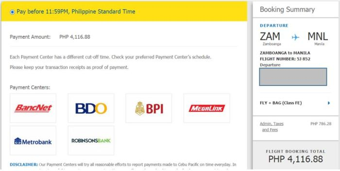 How to Pay your Cebu Pacific Flight Booking Using BDO Online